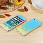 Стекло цветное Glass Gradient комплект iPhone 5 (blue/yellow)