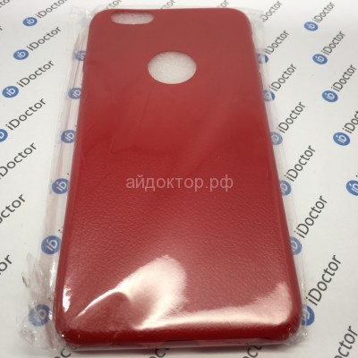 Чехол-накладка - SC015 имитация кожи для Apple iPhone 6 Plus (red)